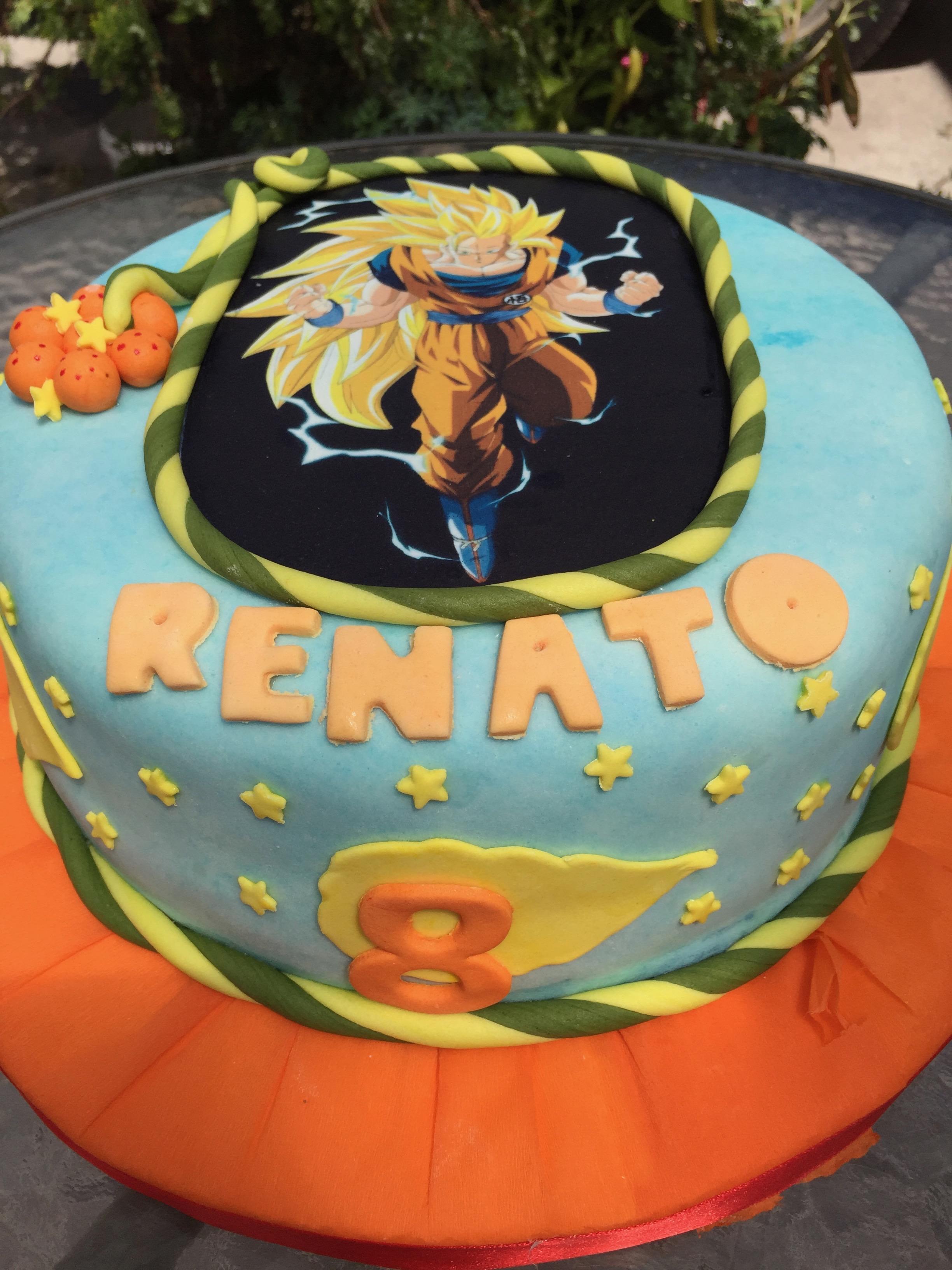 Torta Diseño Goku