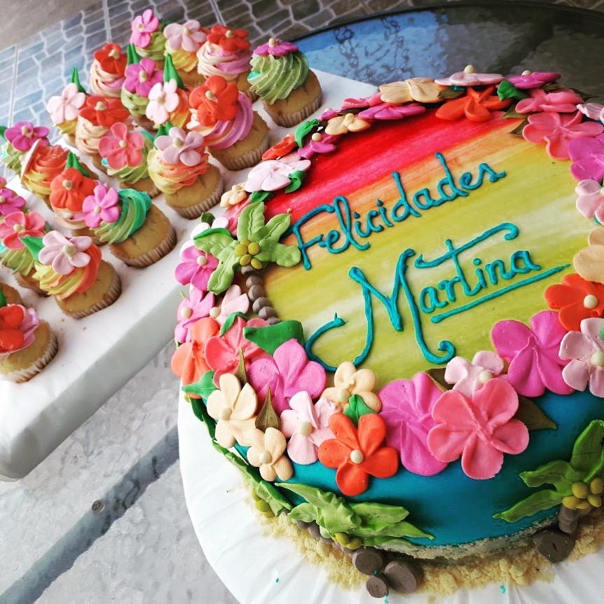 Torta Diseño Tropical